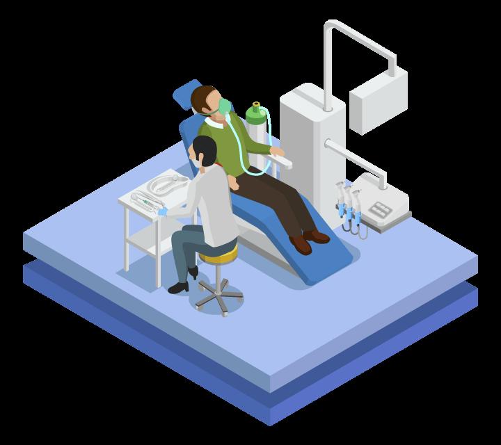 ilustração dentista